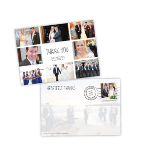 Wedding Thank You - Box Postcard - 75 Cards