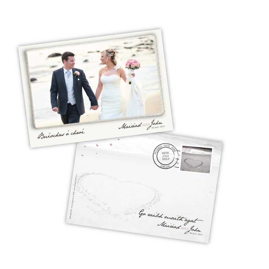 Wedding Thank You - Edged Photo Postcard - 75 Cards