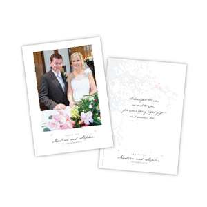 Wedding Thank You -  Portrait Photo Postcard - 75 Cards
