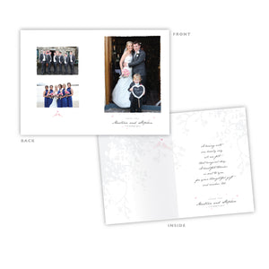 Wedding Thank You -  Portrait Photo Card - 75 Cards