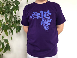 Kids Short Sleeve T-Shirt - Purple - Unisex