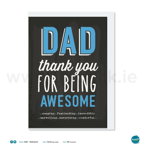 Greetings Card - Fathers Day - Awesome Dad