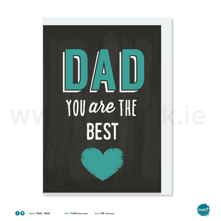 Greetings Card - Fathers Day - Best Dad