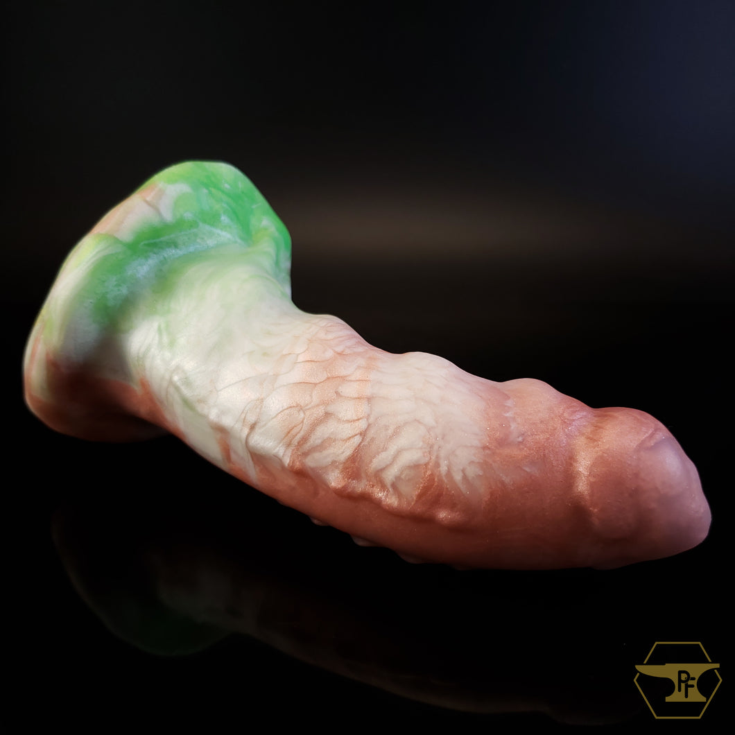 Small Hook Horror, Medium 00-50 Firmness, Rose Gold/Spring Green/Snow, 2604, UV, GLOW