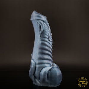 Large Illithid, Medium 00-50 Firmness, Phantom, Silver Drips/Iridescent Blue Shimmer, 3206, UV, GLOW