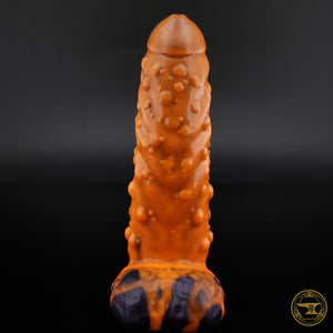XS Troll, Medium 00-50 Firmness, Pumpkin Boi, Neon Orange Drips/Deep Metallic Purple, 3209, UV, GLOW