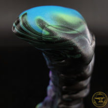 Load image into Gallery viewer, |SOLD OUT| Small Bone Devil, Soft 00-30 Firmness, Black Rainbow Misfit, 0099, UV