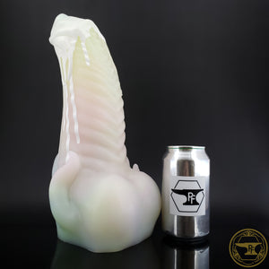 |SOLD OUT| XXL Illithid, Super Soft 00-20 Firmness, White Drips over Tropical Succulent, 0210, GLOW