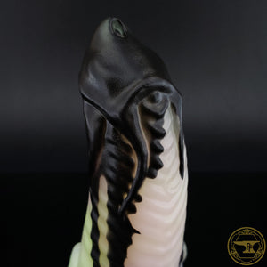 |SOLD OUT| Small Illithid, Soft 00-30 Firmness, Black Drips over Tropical Succulent, 0219, GLOW
