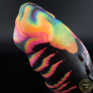 |SOLD OUT| Large Hook Horror, Medium 00-50 Firmness, Black Rainbow, 0244, UV