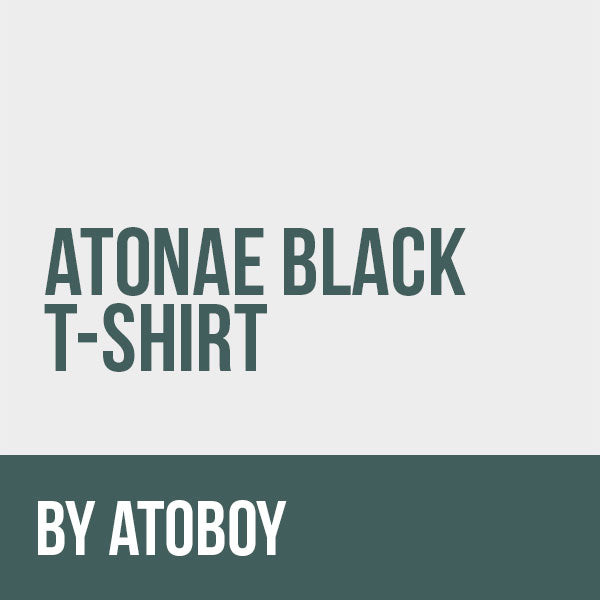 Atonae Black T-Shirt by Atoboy Restore