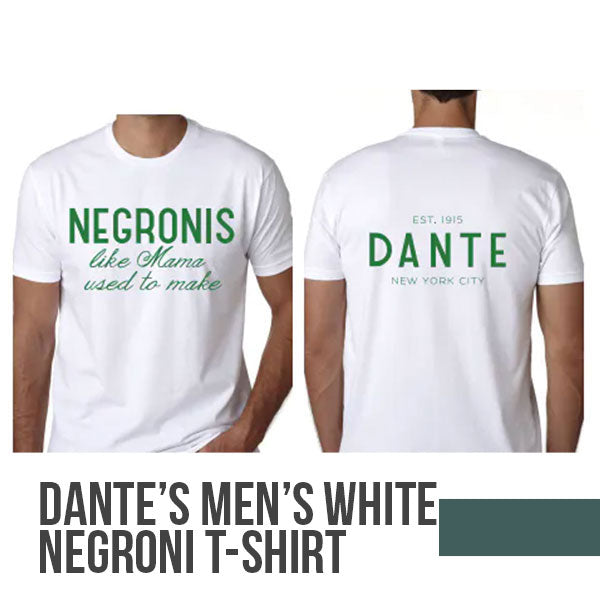 Dante Men's White Negroni T-Shirt by Dante Restore