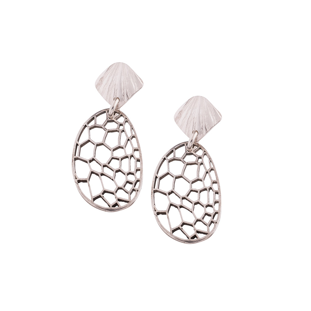 BOTANIK Silver scallop earrings
