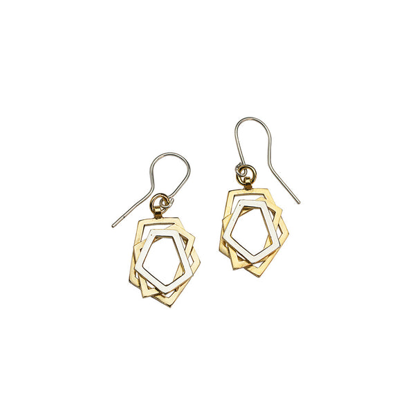 PENTA triple earrings