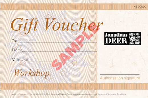 1 Day Introduction to Silver Jewellery Making Gift Voucher