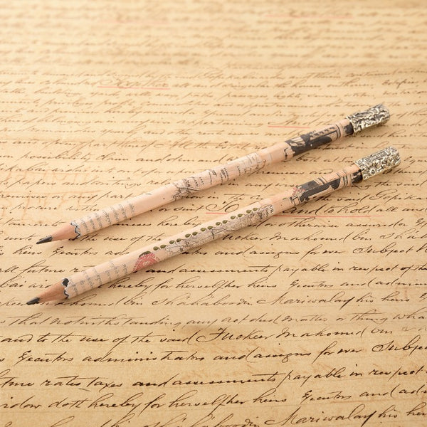 WOODEN PENCILS WITH REPUOSSE CAP