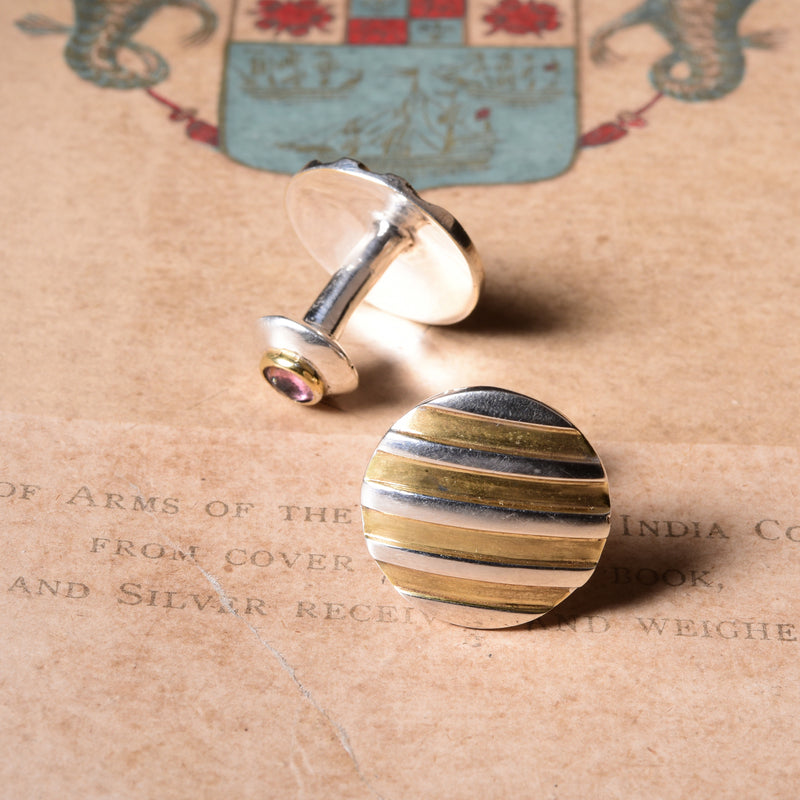 GORDON STRIPES CUFFLINK