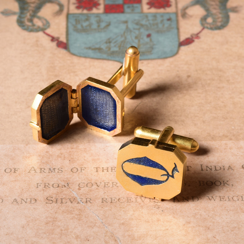 GOLD PLATED INITIAL CUFFLINKS