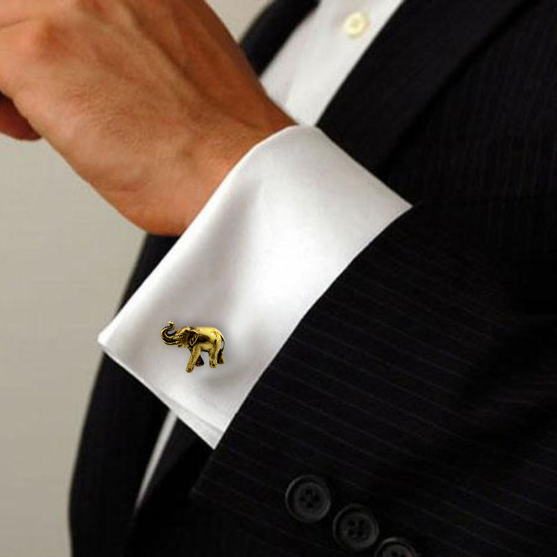 GOLDEN ELEPHANT CUFFLINK