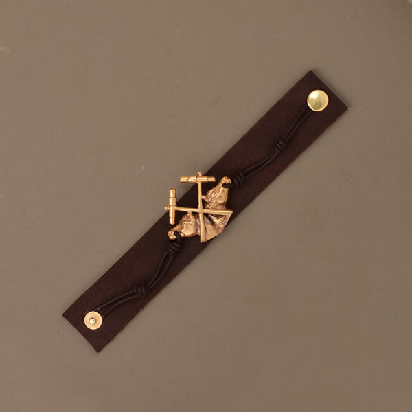 TWIN PONY LEATHER BAND