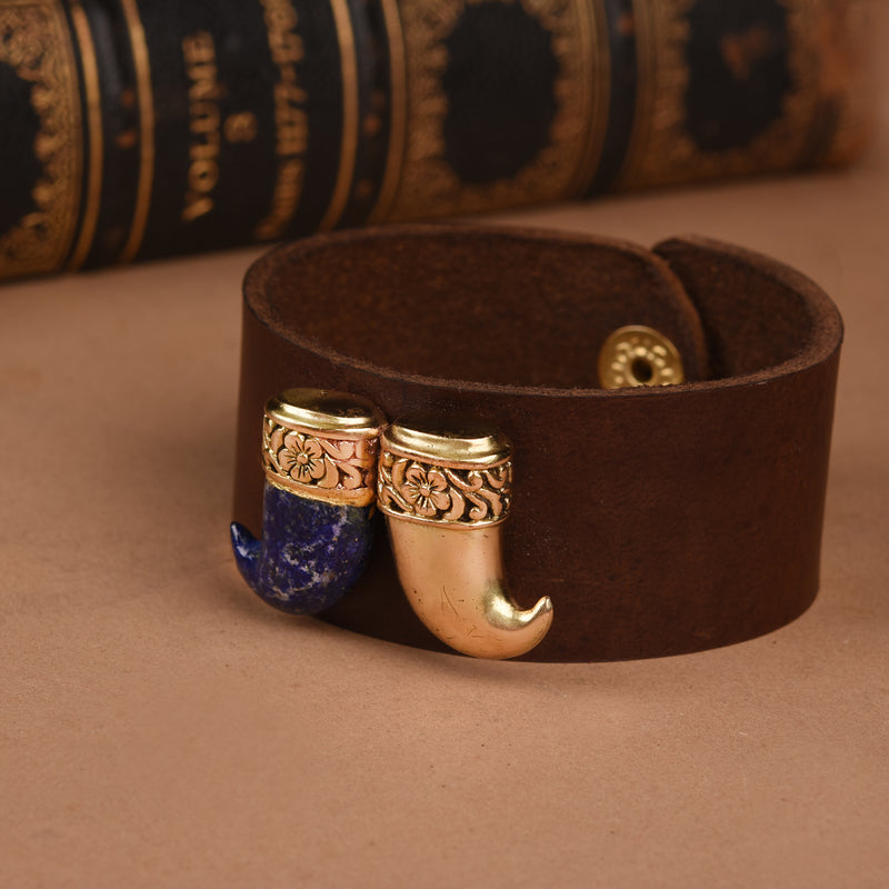 DUPLE TIGER CLAW LEATHER BAND