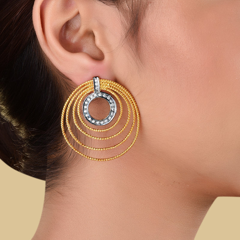 CONCENTRIC CIRCLE EARRING