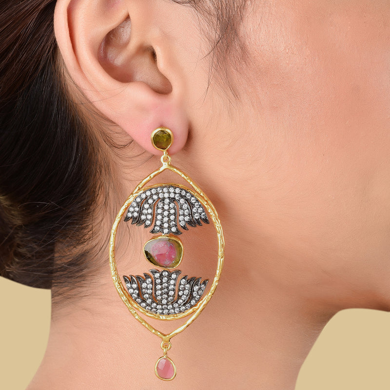 LOTUS EAR HOOPS