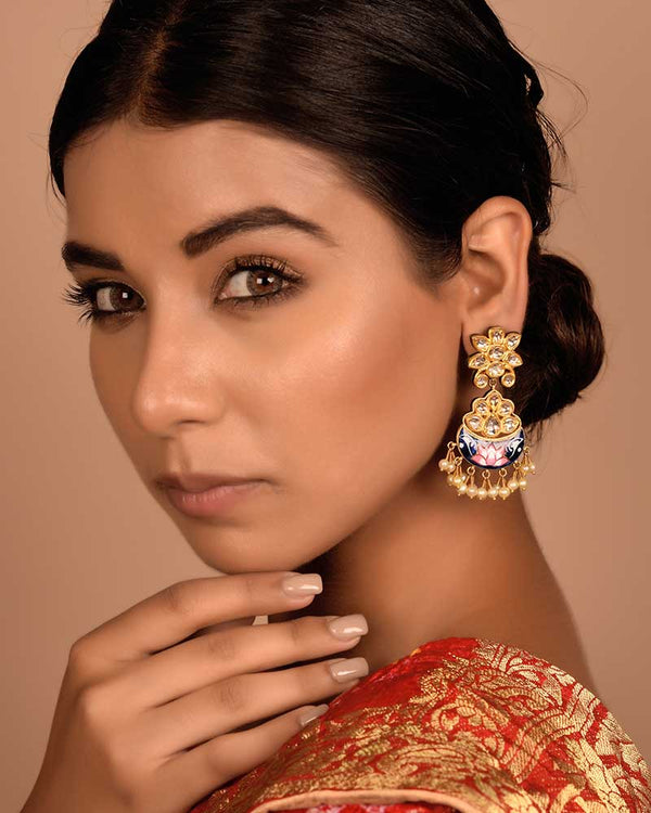 NEELKAMAL POLKI EARRINGS