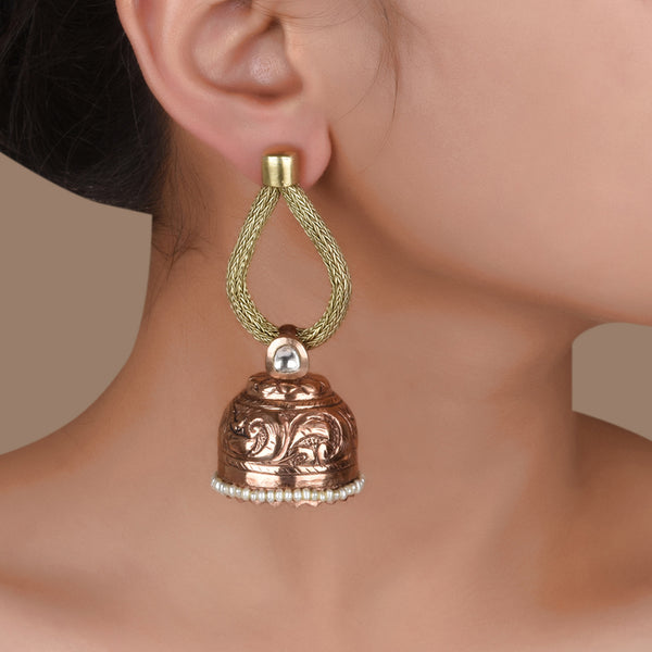 WIRED DROPLET JHUMKI