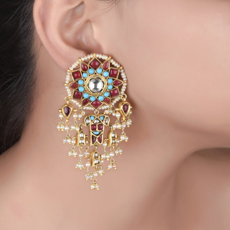 The Dual Layered Magar Earrings