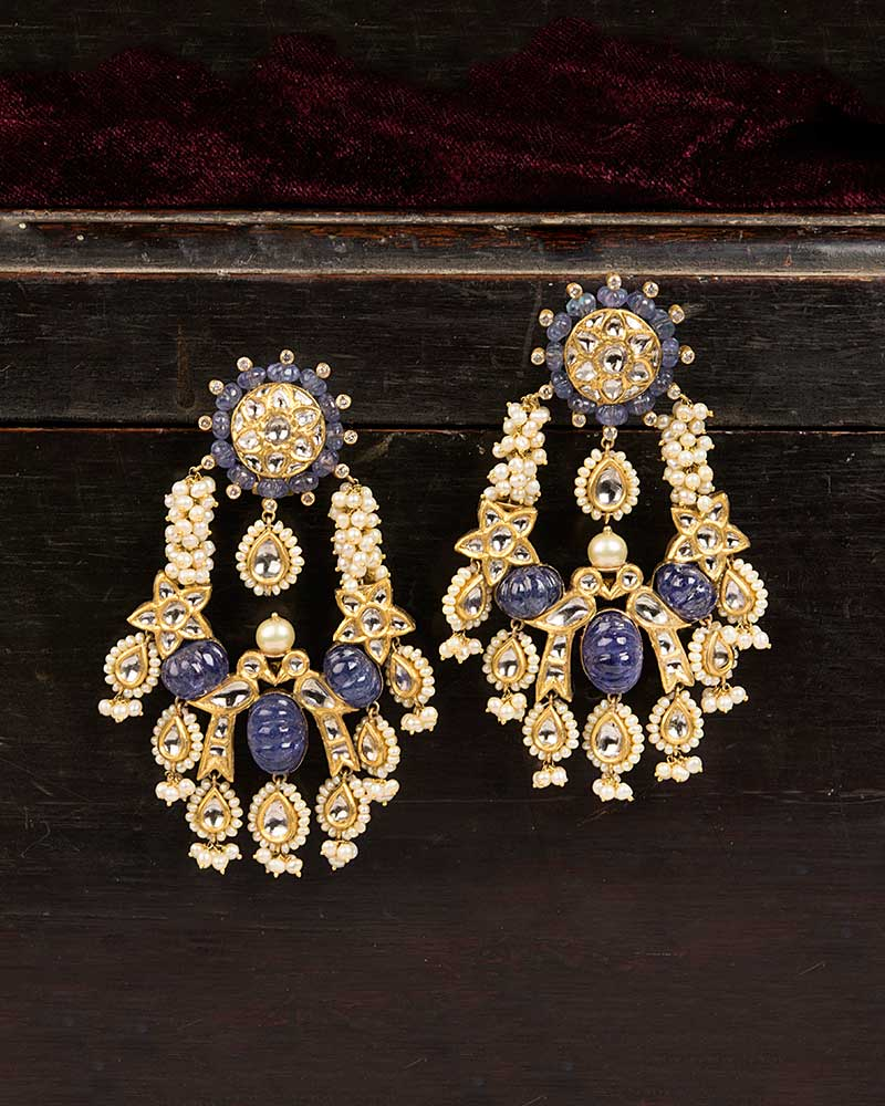 18/24KT GOLD TANZANITE MELON DANGLERS