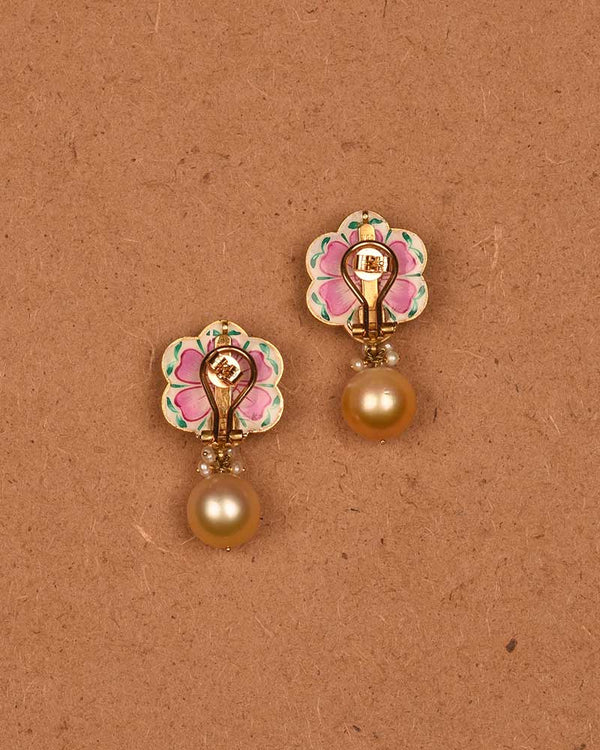 22kt GOLD RUBY FLORET EARRINGS