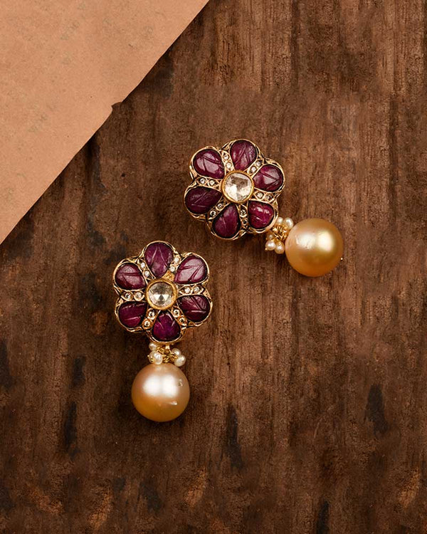 RUBY FLORET EARRINGS