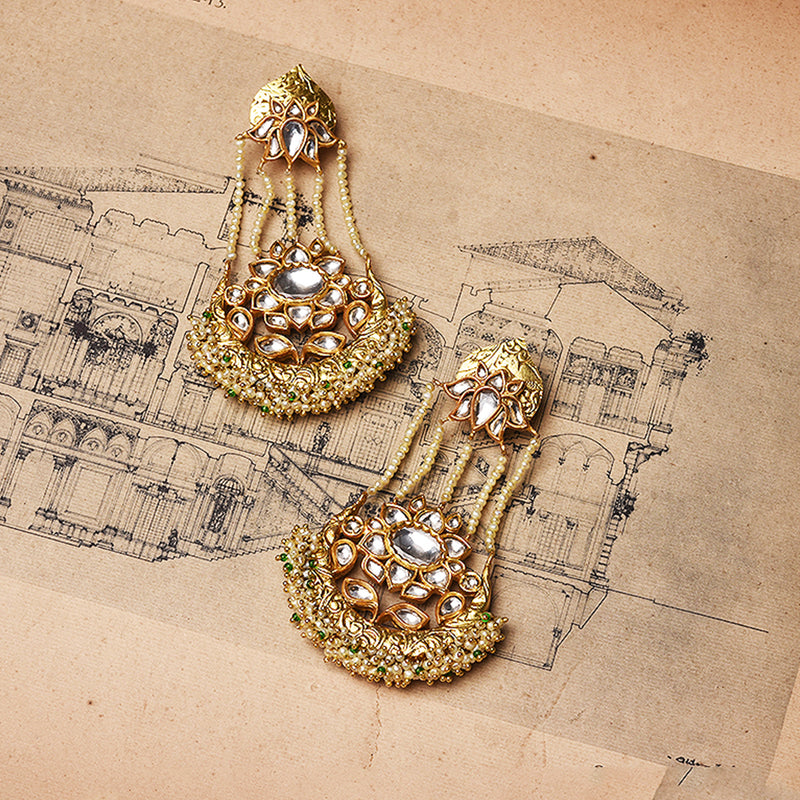 PEARL POLKI EARRINGS