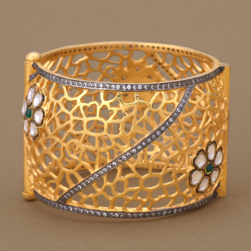 POLKI BLOSSOM FILIGREE BANGLE