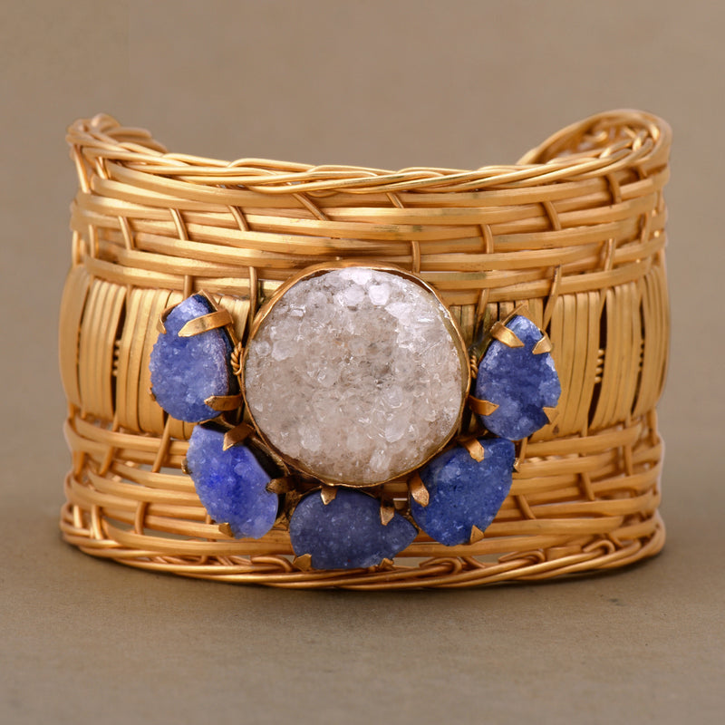 DRUZY PUNCTUATED WOVEN CUFF