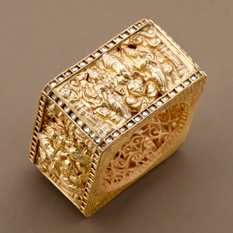 TEMPLE CUFF WITH CZ POLKI