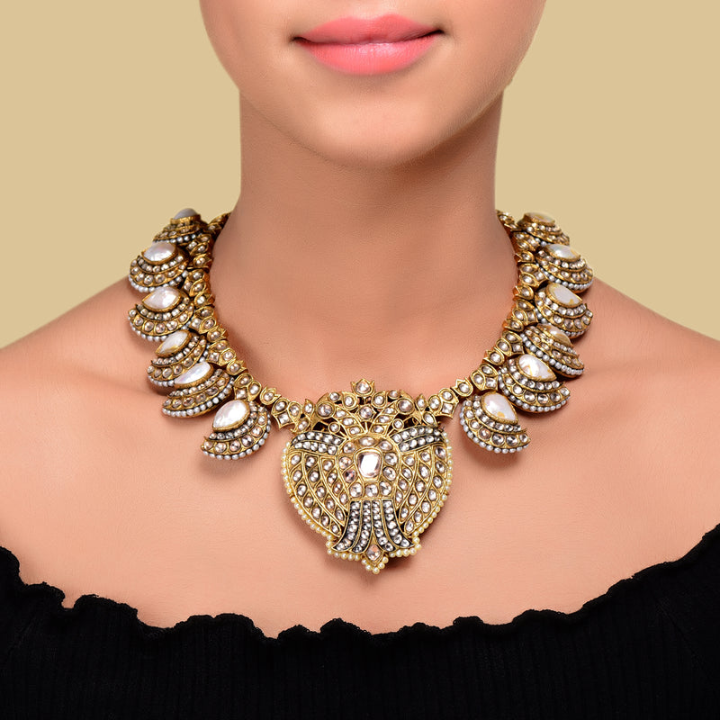 Paisley Baroque Pearl Necklace