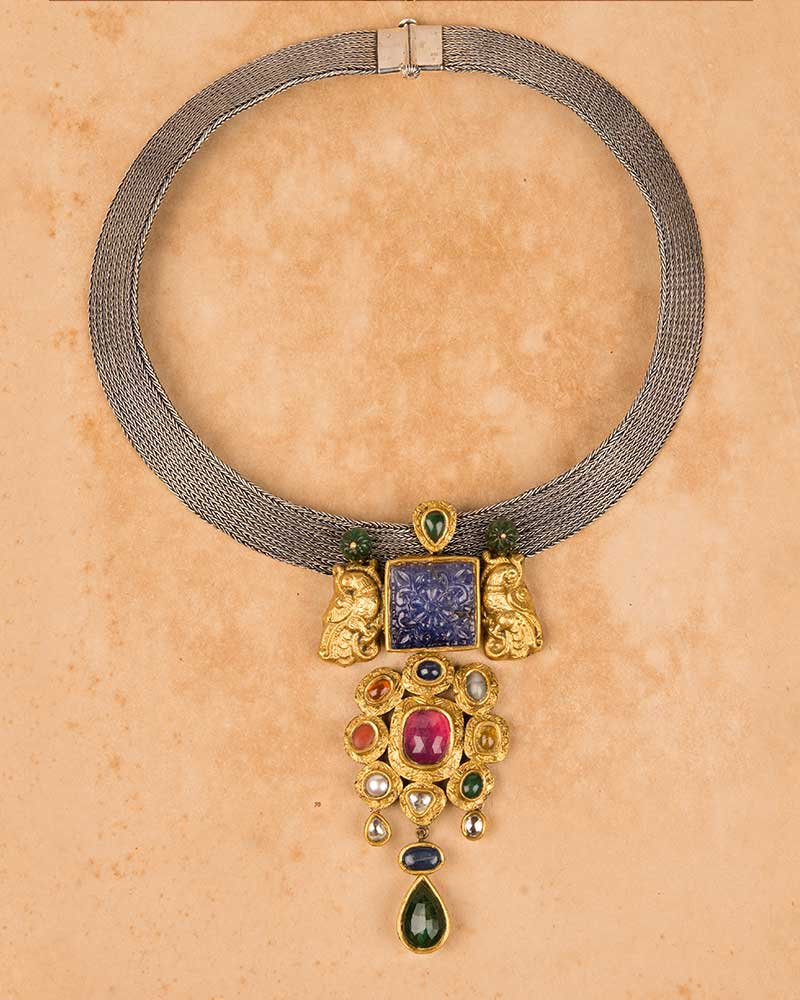 INDOWESTERN NAVRATNA NECKLACE