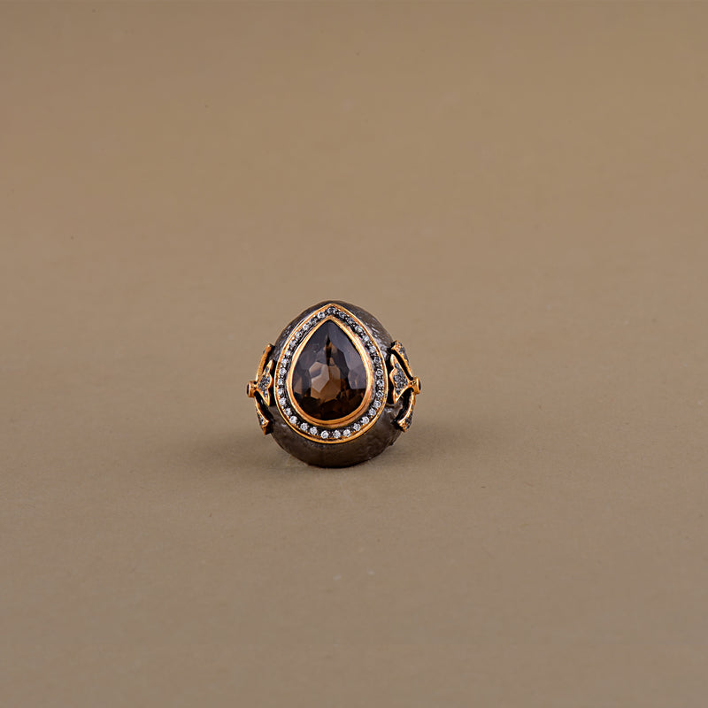 TWO-TONE ORGANIC PEAR RING
