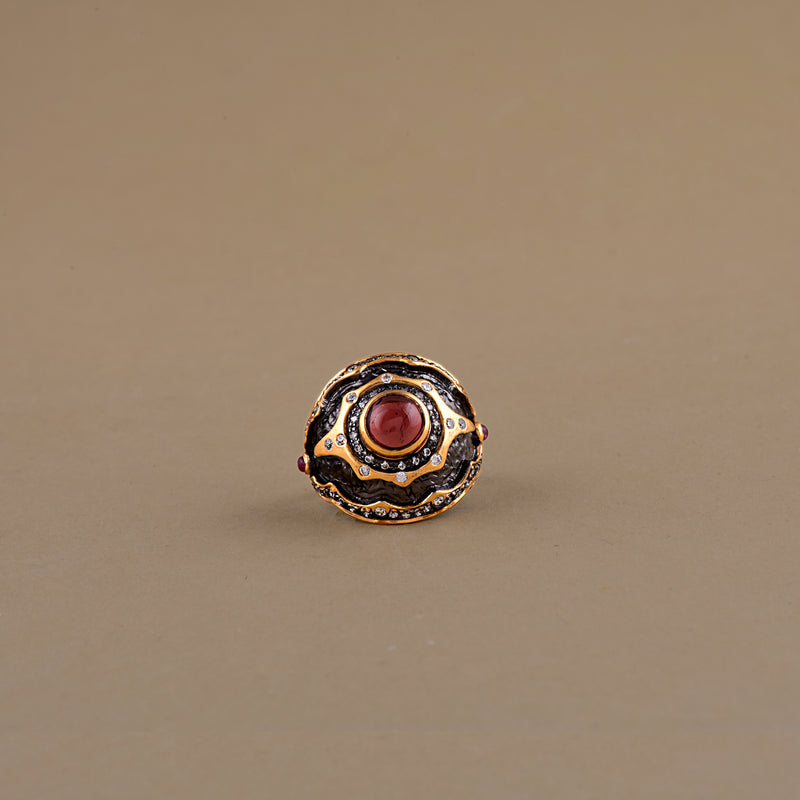 TWO -TONE TOURMALINE RING