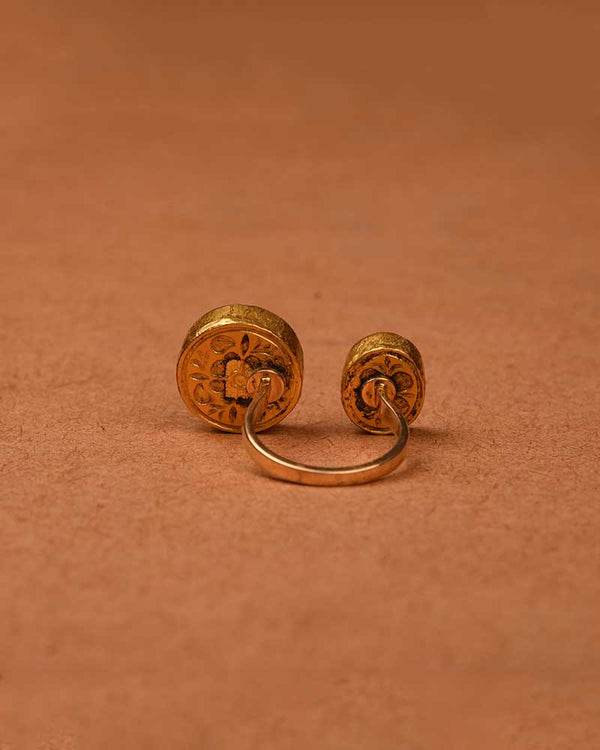 CHIC GOLD AND POLKI RING