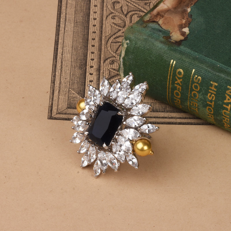 CRYSTALLINE SUNFLOWER RING