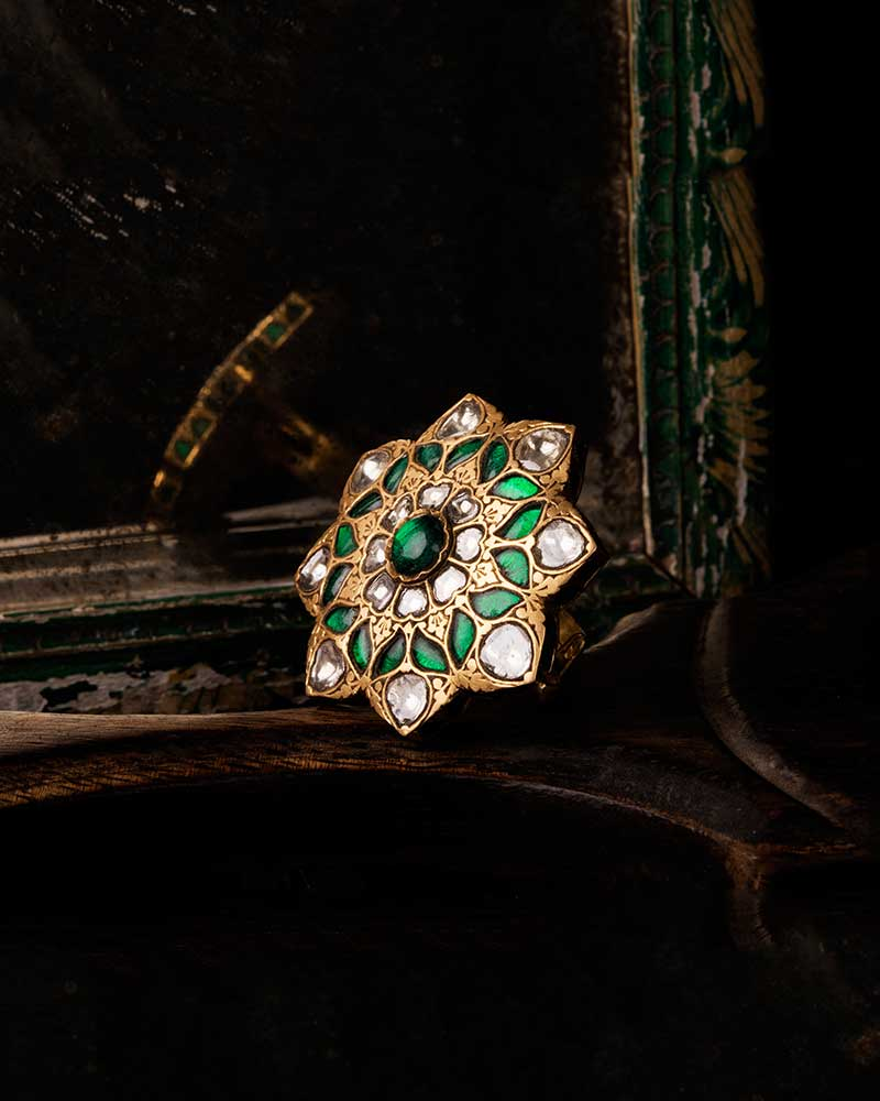 22KT GOLD PRATAASH POLKI RING
