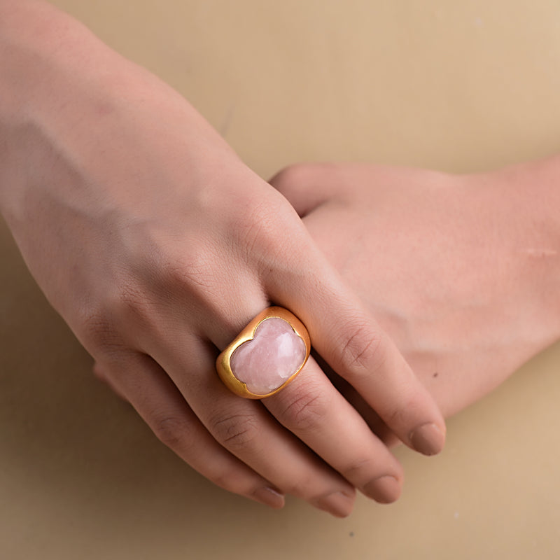 MUTED GOLD ORGANIC RING