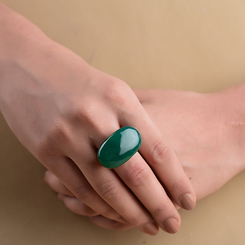 SEAMLESS GREEN ONYX RING