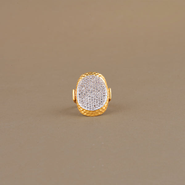 CUBIC ZIRCONIA GILDED RING