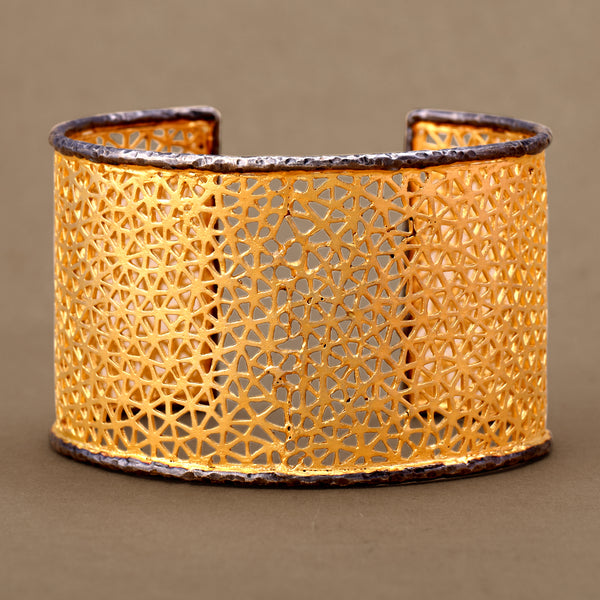 TWO- TONED FILIGREE CUFF