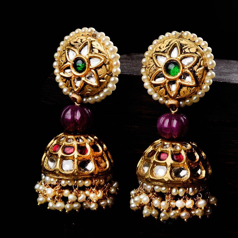 FLORAL JHUMKIS