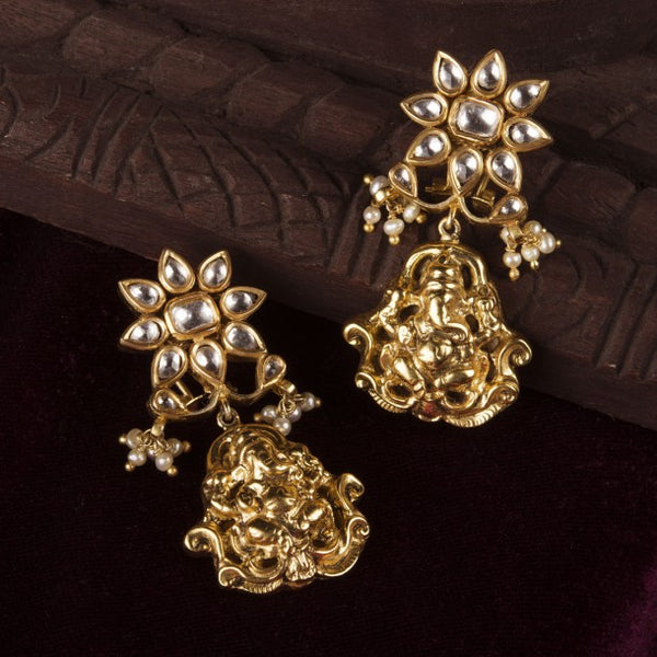 THE FLORAL VINAYAKA EARRINGS